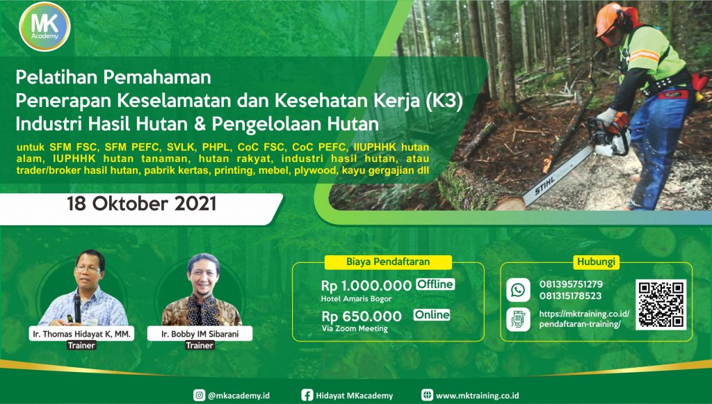 Pelatihan keselamatan dan kesehatan kerja (K3) hutan